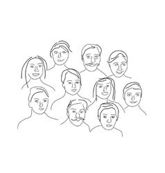 Cartoon facial expressions set vector image