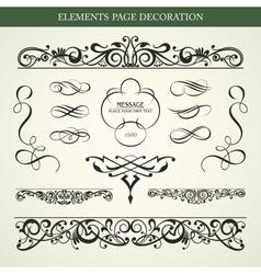 ELEMENTS PAGE DECORATION vector image