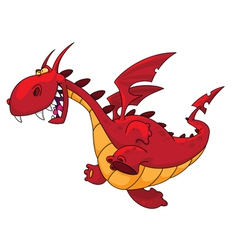 running dragon vector image vector image