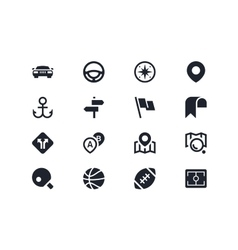 Traffic and sport icons Lyra series vector image