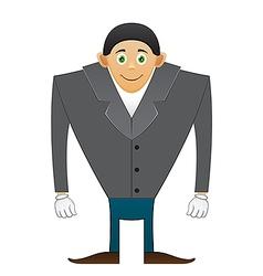 broad shoulders Office man vector image