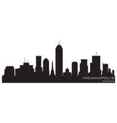 indianapolis indiana skyline detailed silhouette vector image vector image