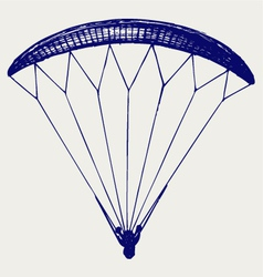 Man jumping with parachute vector image