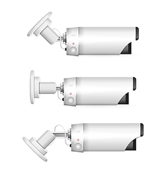 white surveillance camera vector image