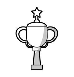 winner cup star trophy - shadow vector image