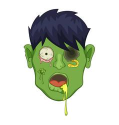 zombie head icon cartoon style vector image