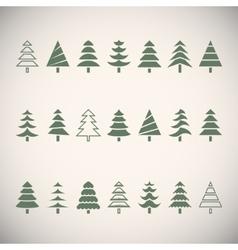 Fir trees vector image