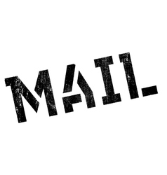 Mail rubber stamp vector image