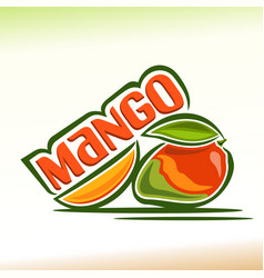mango still life vector image vector image