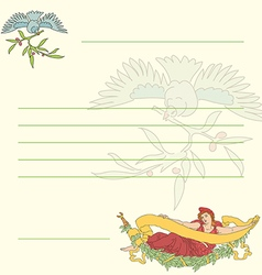 Postcard in retro style in vector image vector image