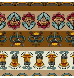 Seamless pattern with images of flowers vector image