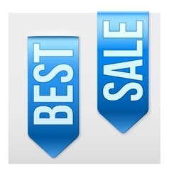 Set of Popular Ribbons BEST and SALE Realistic vector image vector image