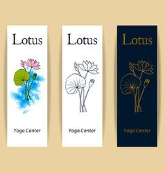 yoga center emblem vector image vector image