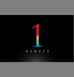 1 number rainbow colored logo company icon design vector