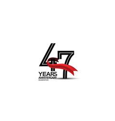 47 years anniversary logotype flat black color vector