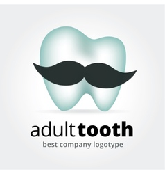 Abstract tooth character logotype concept isolated vector