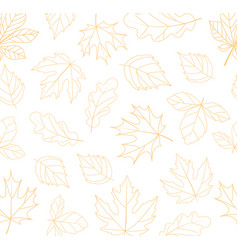 Autumn seamless background fall time concept vector