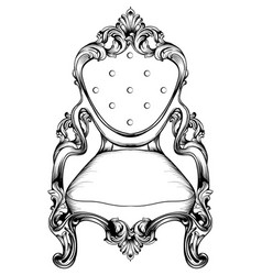 Baroque chair with luxurious ornaments vector