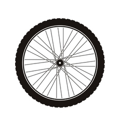 Bike wheel tire vector