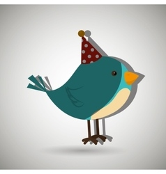 Bird whit hat party design vector