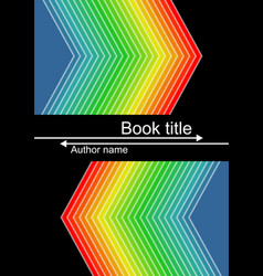 black book cover with vivid triangle shapes in vector image
