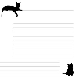 blank for records with cat vector image