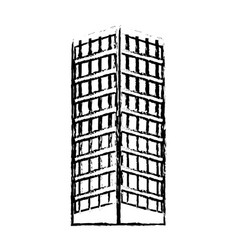 Building structure architecture windows design vector