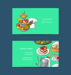 Business card template for restaurant vector