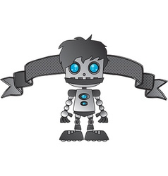 Cartoon robot design vector