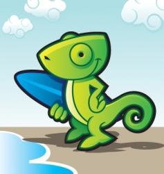 Chameleon surfer vector