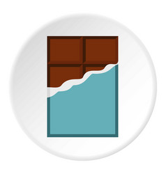 Chocolate bar icon circle vector