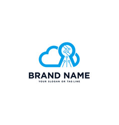 Cloud and security logo vector