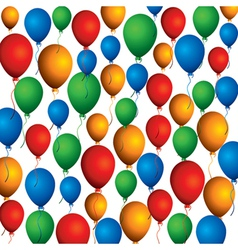 colorful balloon background pattern vector image