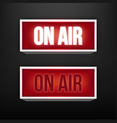 creative of on air live vector image
