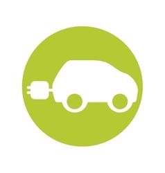 eco car symbol isolated icon vector image