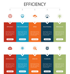 Efficiency infographic 10 option ui designtime vector