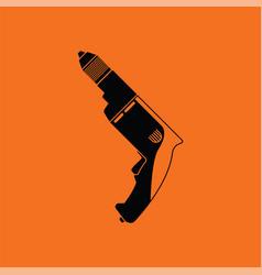 Electric drill icon vector
