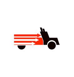 express truck logo vector image
