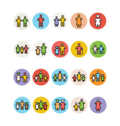 Family Icons 3 vector