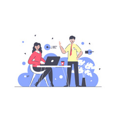 flat businessman and businesswoman colleagues at vector image