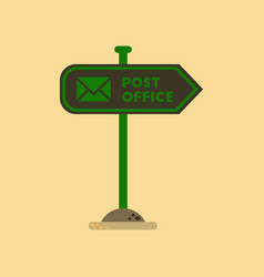 Flat icon on background sign post office vector