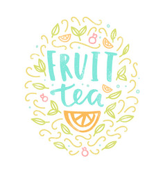 fruit tea label vector image