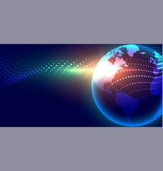 Futuristic digital earth globalization concept vector