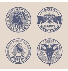 Goat badges vector image