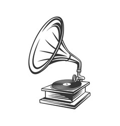 Gramophone outline icon vector