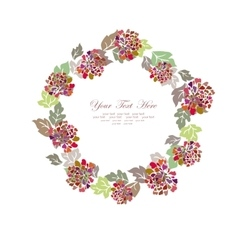Hand painted floral frame vector