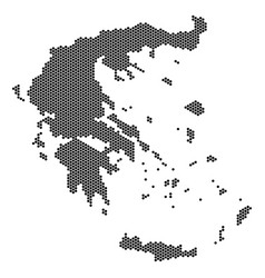 Hex tile greece map vector