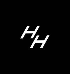 hh logo monogram with up to down style modern vector image