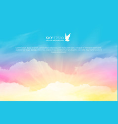 Horizontal background with realistic pink vector