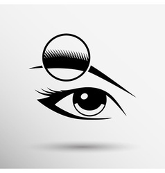 Human eye isolated eye eyebrow human female makeup vector image
